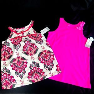 🍭 NWT! Set of 2 Girls Carters Tops Size 7